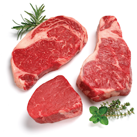 USDA Prime Ribeye, Filet Mignon, & Strip Steak Gift Box