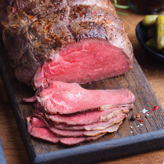 Straub's Rare Top Round Roast Beef