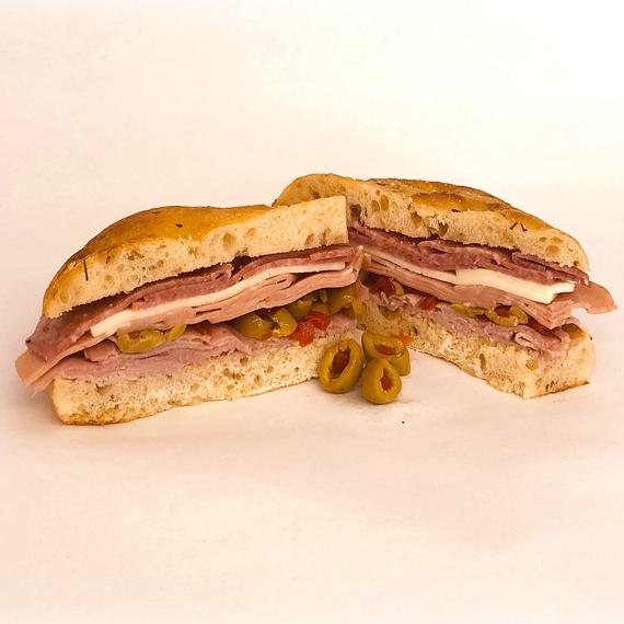 Muffuletta Sandwich on Focaccia
