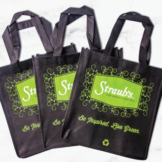 Straub's Black Jute Bag